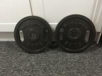 2x 20kg Olympic Weights Plates. Can Deliver