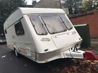 Fleetwood carland 165-4 4 berth caravan and awning