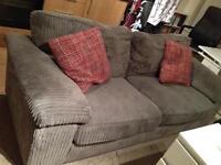 Grey cord sofa