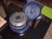 AS NEW VINTAGE FLY FISHING REEL WITH A HARDY REEL CASE...SUIT COLLECTOR...