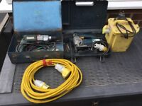 110 SDS drill, jigsaw, transformer and extension lead