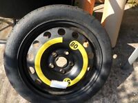 bmw / audi, 16 inch space saver wheel. never been fitted