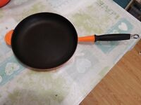 Le Creuset 26cm Cast Iron Frying pan in Volcanic Orange