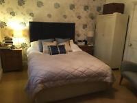 Kingsize divan bed with headboard