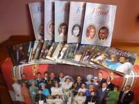 Full set of 24 Royal Family magazines plus 5 specials on Royal Romances. Index & glossy poster £30