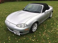Mazda MX-5 1.6 Angels Limited Edition,Full Leather, 66,212 miles with full service history,2 keys