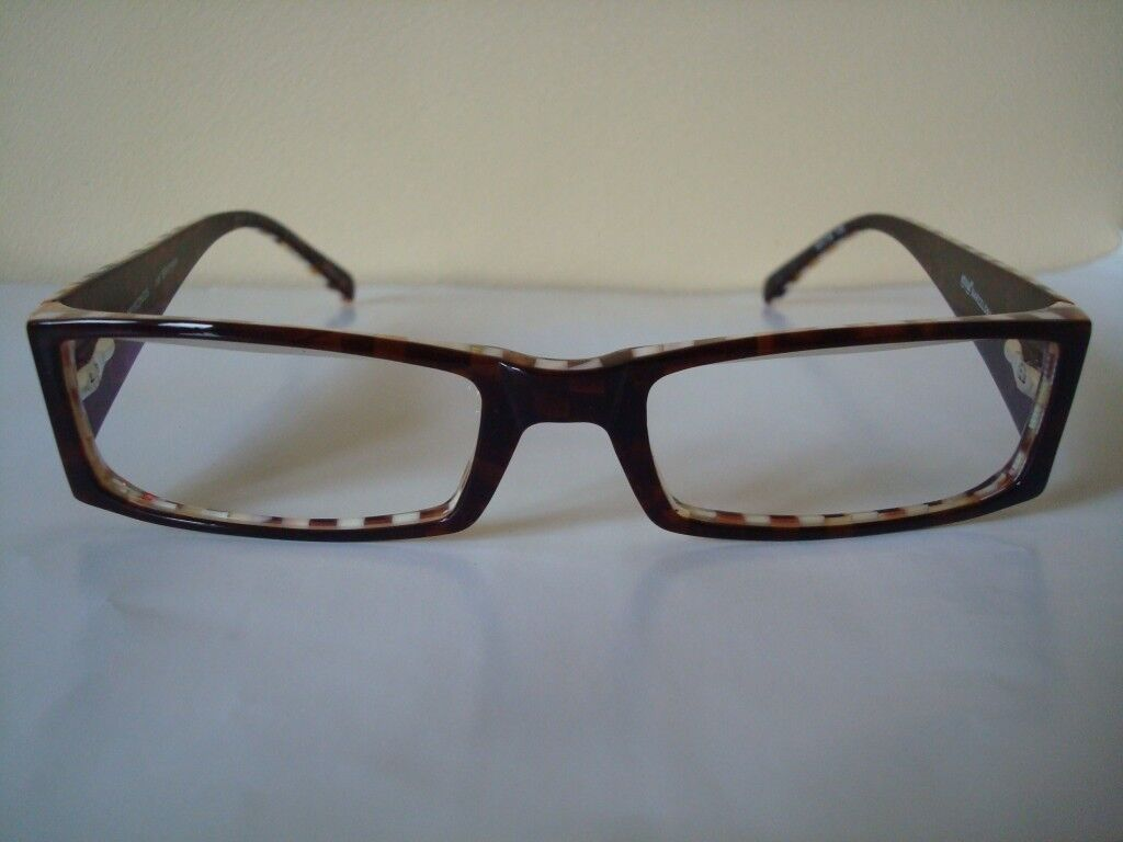 Frame Glasses from \'Etnia Barcelona\' White & Brown Checkers *** | in ...
