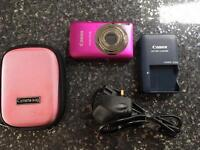 Canon Compact Digital Camera. 12.1 Megapixels. Pink. With Case and Charger.