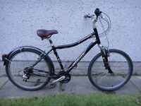 Specialized expedition bike, 26 inch wheels, 20 inch aluminium frame, 21 gears, suspension seat,