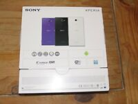 Sony Xperia M2 XPERIA M2 - D2303 brand new boxed white mobile phone. Not iphone or Samsung