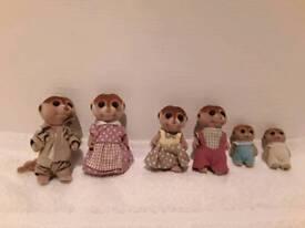 SYLVANIAN families meerkats in exellent condition