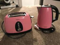 Next pink kettle and toaster set