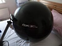 Gym exercise ball, pump and exercise mat