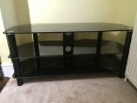 TV Stand (black glass)