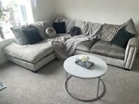 Sfs luxury crushed velvet sofa 12 month's old