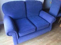 M&S Marks and Spencer Blue 2 Seater Sofa - Very Good Quality