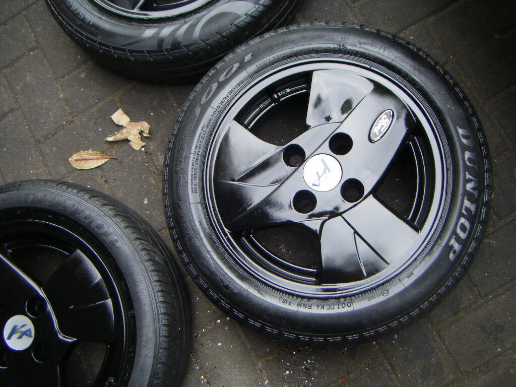 Ford Ka Black Alloy Wheels  Stud  Ltd Edition