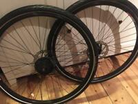 29 Mountain bike wheels - disc includes tires and qr skewers