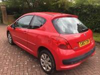 1 year mot no advisory Peugeot 207 1.4 m play 78k new t/belt 57reg