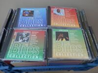 A collection of over 50 blues CDs
