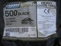 Visqueen Damproof membrane 500 black 4.0 meters x12.5 500 mu