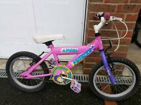 "Girls 16""wheel bike"