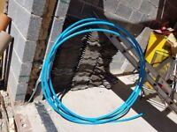 Blue under ground gas pipe
