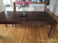 Big hard wood dining table