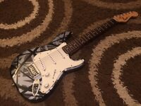 Fender Squire Mini Stratocaster - Custom EVH Style professional paint job - Very Cool!