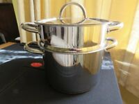 Jean Patrique stainless steel steamer-collection only