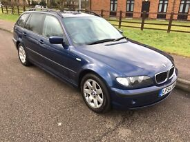 BMW 3 Series 320d SE Touring 2004 estate diesel 2.0 litre blue E46 leather full service history