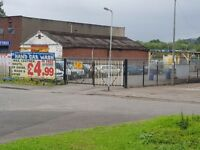 Large car wash site with large workshop on busy swansea enterprise park secure site