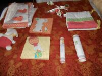 Nursery Set Mamas and Papas Curtains, Cot Covers Mobile etc