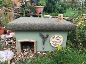 Rustic handmade hedgehog cottage