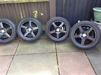 "Team dynamics 16"" alloy wheels 205/55/16 tyres Vauxhall"