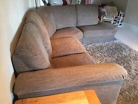 IKEA Corner sofa with arm left TIDAFORS Hensta light brown