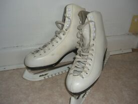 Ladies white ice skates