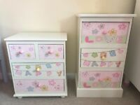 Two bedside tables for girls room