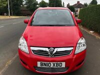 2010 Vauxhall Zafira 1.6 Energy Mpv 7 Seater 45,000 Miles Full Service History Long MOT !Must View!