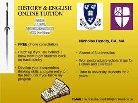 Online History & English Tutor