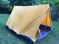 Large ridge tent with separate flysheet