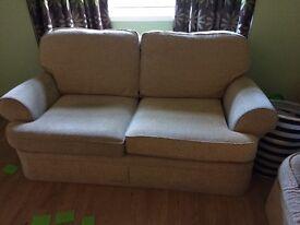 2 x 2 Seater Cream Sofas