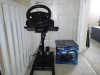 Ps4/Ps3 Thrustmaster T80 racing wheel + pedals and stand
