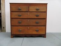 Antique solid oak 5 drawer unit with lockable drawers and beautiful effects all over