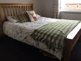 Solid Oak Bed - Double