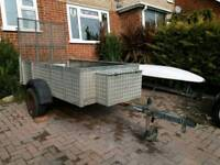 Large 8ft x 4ft metal trailer used for quad