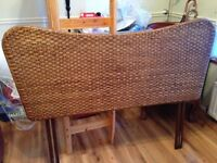 Marks & Spencer wicker double bed headboard in excellent condition