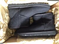 UGG boots, Black, UK 4, brand new in box with receipt, £80 RRP £135