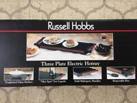 RUSSELL HOBBS 3-Plate Electric Hotray. BRAND NEW in Box.
