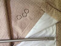 Curtains - with pole & rings - free to collector